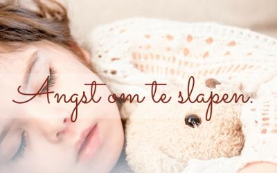 Angst om te gaan slapen.